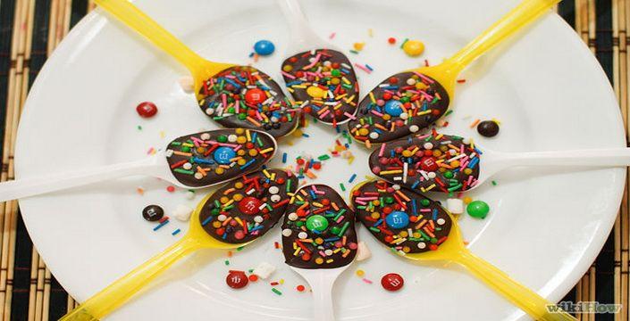 طريقة تحضير ملاعق الشيكولاتة لأطفالك