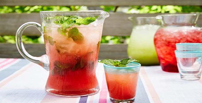 عصير البطيخ بالليمون والنعناع
