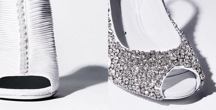 احذية الساندريلا  لعروس  2016 من ستيلا لونا