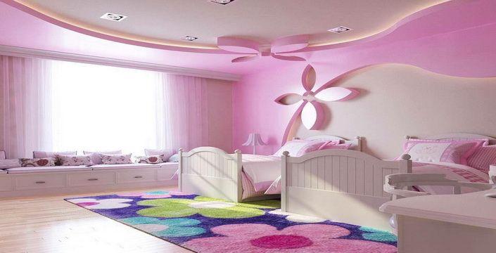 للفتيات صور غرف نوم باللون الوردي